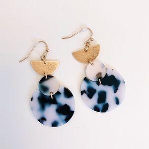 Half Moon Leopard Acrylic Earrings